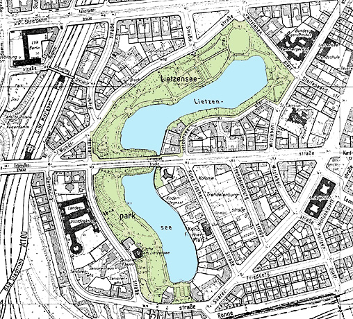 Karte vom Lietzenseepark